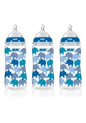 NUK Fashion Orthodontic Bottle Elephant Boy 10 oz 300ml 1/2/3