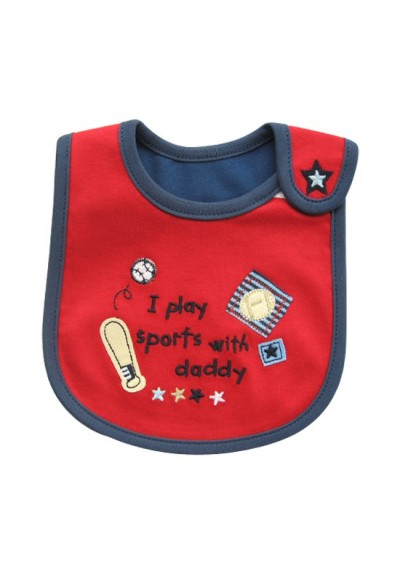 Carter's Bib -I Play Sports with Daddy