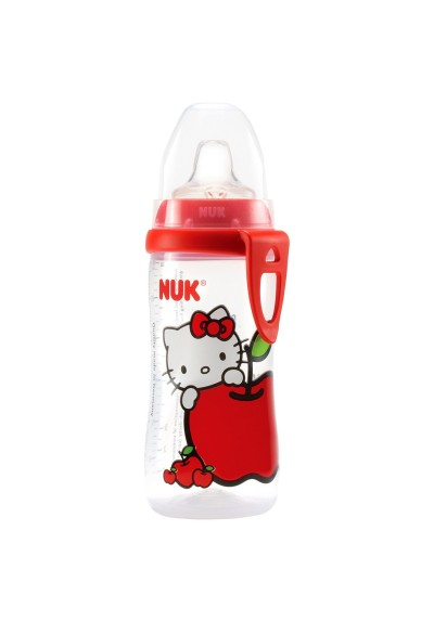 10 oz. New NUK Hello Kitty Active Cup with Silicone Spout 12m