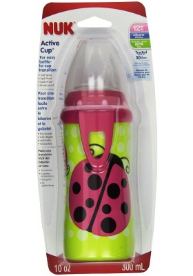 NUK Active Silicone Spout Learning Cup Ladybug 10 oz 300ml