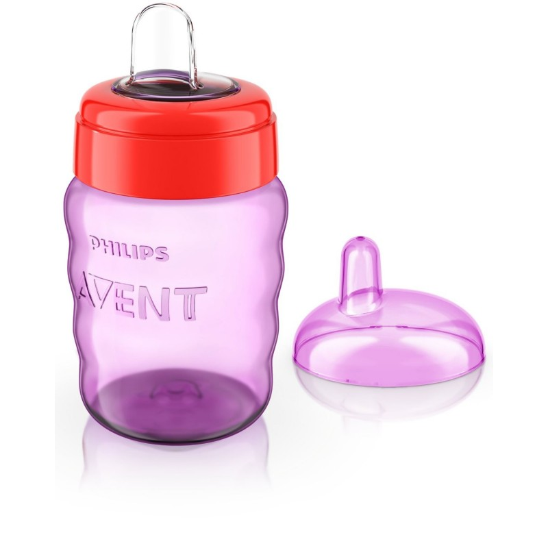 Philips Avent  Easy Sip  Soft Flexible  Spout Cup Age 6m Girls colour  bpa free