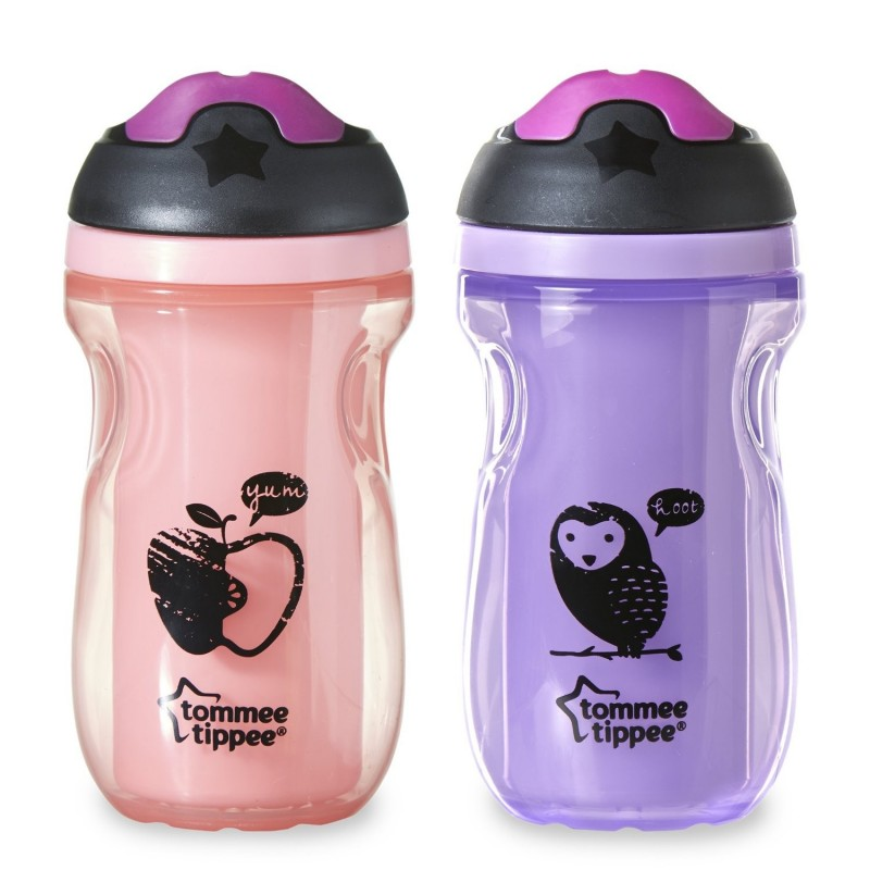 Tommee Tippee Insulated Sipper Tumbler Pink Purple 9 Oz