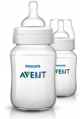 Philips Avent Bottles 2 x 9oz / 260 ml Classic+ Plus (PP) BPA Free-Twin Pack England Set
