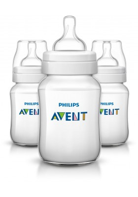 Philips Avent Bottles 3 x 9oz / 260 ml Classic+ Plus (PP) BPA Free-Triple Pack England Set