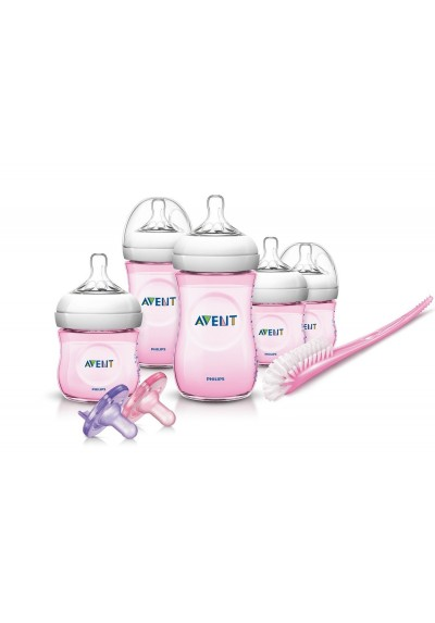 Philips AVENT BPA Free Natural Infant Starter Gift Set Pink