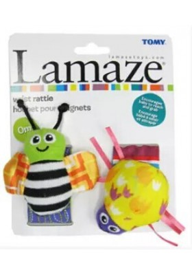Lamaze Green Garden Bug Wrist Rattles Original Packing