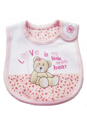 Carter's Bib -Love Bear Pink