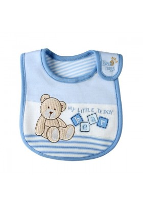 Carter's Bib -Love Bear Blue