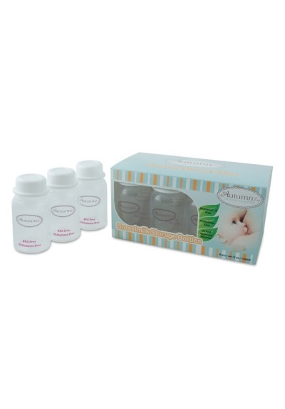 Autumnz - 5oz / 150ml Breast Milk Storage Clear Bottles 10 pcs + Free 5 Double ZipLock storage Bags