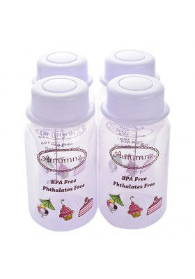 Autumnz Breastmilk Storage Bottles 4 bottles - Colors Varies