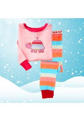 BabyGap Pyjamas 2T to 7T Pink Turtle