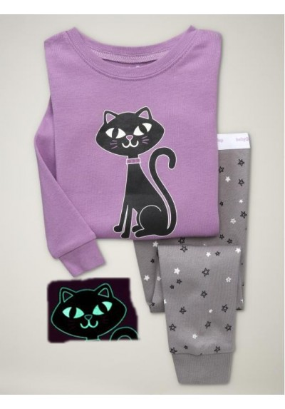 0cdee57a6 BabyGap Pyjamas 2T to 7T Purple Cat