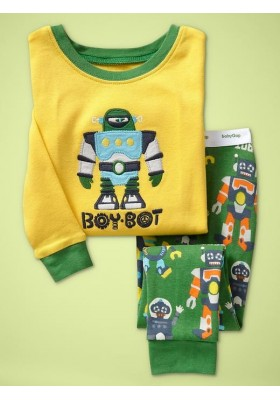 BabyGap Pyjamas 2T to 7T Green Robot