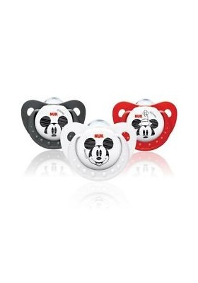 NUK Mickey / Minnie Size 2 (6-18m) Silicone Soother - 2 pack