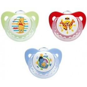 NUK Winnie the Pooh Size 2(6-18 months) Silicone Soother - 2 pack