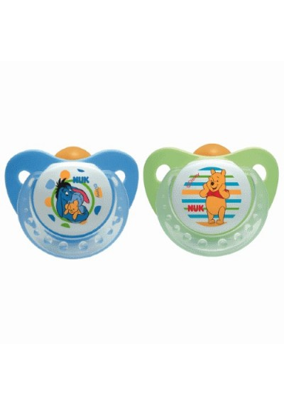 Baby Soothers Set Winnie Pacifer Silicone Baby Dummy 6-18 Months 2 Pcs