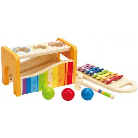 Hape Pound & Tap Bench with Slide out Xylophone Wooden Toys 12 months and up
