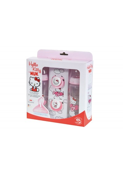 NUK First Choice Range Hello Kitty Bottle and Pacifier Gift Set Free Shipping