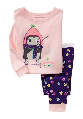 BabyGap Pyjamas 2T to 7T Pink Penguin