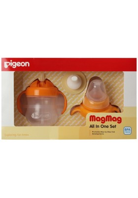Pigeon Mag Mag All in One Set Orange 200ml / 7oz