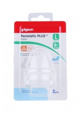 Pigeon Peristaltic PLUS Nipple for Wide Neck Bottle (2pcs) - L