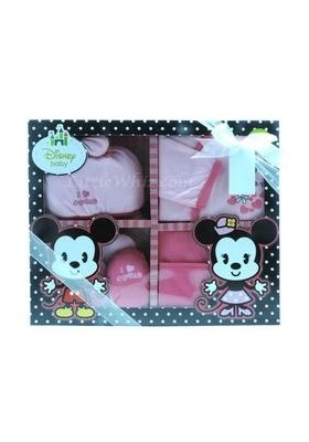 Disney Cuties Gift Set (Minnie) Pink- 0-6m+