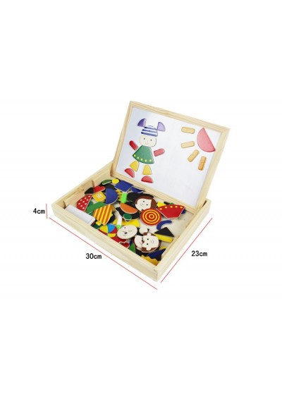 Magnetic Puzzle + Creativity Board Set for Kids