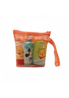 Disney Cuties Baby Starter Travel Kit (Shampoo/ Body Lotion/ Baby Powder)