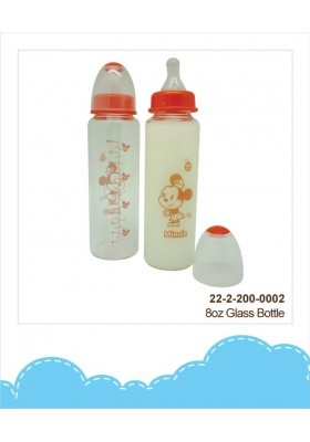 DIsney Cuties Glass Bottle 8oz Mickey/ Minnie