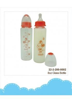DIsney Cuties Glass Bottle 8oz Mickey/ Minnie