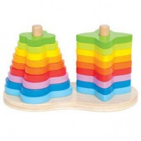 Hape Double Rainbow Stacker 12 months and up