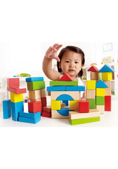 Hape Bench Maple Blocks Set 12 months and up