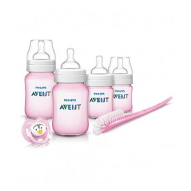 Philips Avent Classic + Plus Pink Newborn Starter Set - Free Shipping