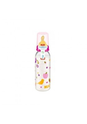 NUK Printed PP Bottle (6-18m) 240ml with Latex Teat- Single Pack