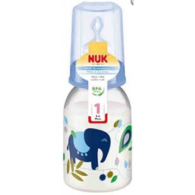 NUK Printed PP Bottle (0-6m) 110ml with Silicone Teat- Single Pack