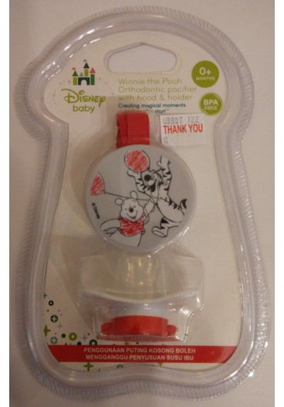 Disney Cuties Winnie the Pooh Pacifier with Holder