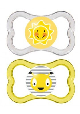 MAM AIR BPA FREE Orthodontic Silicone Pacifiers 16 months, 2-pk(Assorted colors)