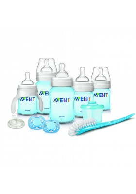 Philips AVENT Classic Plus + Deluxe Infant Starter Gift Set Blue Free Shipping BPA Free