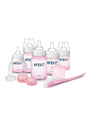 Philips AVENT Classic Plus + Deluxe Infant Starter Gift Set Pink Free Shipping BPA Free