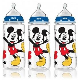 NUK Fashion Orthodontic Bottle Mickey Boy Yellow Shoes 10 oz 300ml 1/2/3