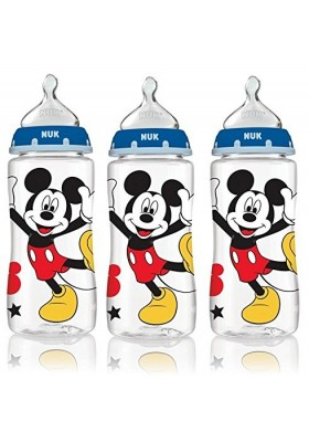 NUK Fashion Orthodontic Bottle Mickey Boy Yellow Shoes 10 oz 300ml 1/2/3