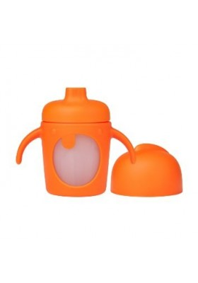 Boon Modster Short Soft Spout Sippy Cup 7oz Orange/Green