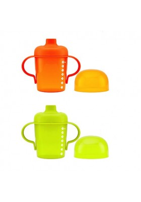 Boon Sip Short Soft Spout Sippy Cup 7oz Orange/Green