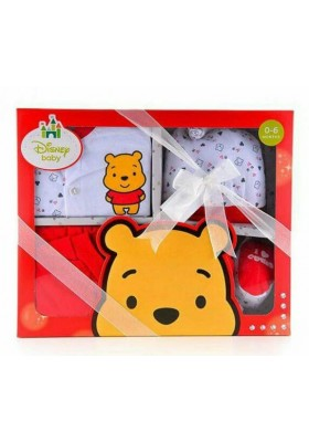 Disney Cuties Gift Set (Winne The Pooh) Red- 0-6m+