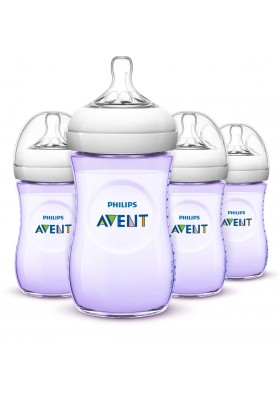 Philips Avent Bottle Natural 9oz / 260 ml Purple Single Loose Pack