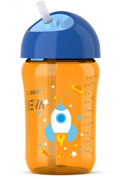Avent Straw Cup 12oz 18m+ Blue / Orange
