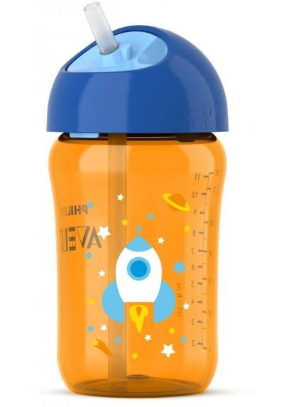 Avent Straw Cup 12oz 18m+ Blue / Orange