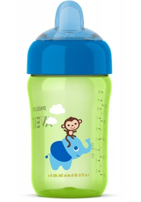 Philips Avent My Sip-n-Click Cup Green/Blue 12oz 12m+ Non Spill