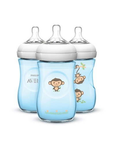 Philips Avent Natural Bpa Free 260ml 9oz 1 2 3 Decorated