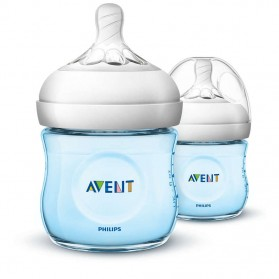 Philips Avent Bottle Natural 2 x 4oz / 125 ml (Twin) PINK/BLUE